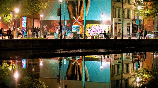 CanalStMartinbyNight-reflections-Paris mon amour, je te quitte. The-return-to-Salone.com
